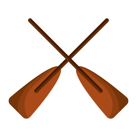 two wooden crossed boat oars sport vector illustration 版權商用圖片 - 94689454
