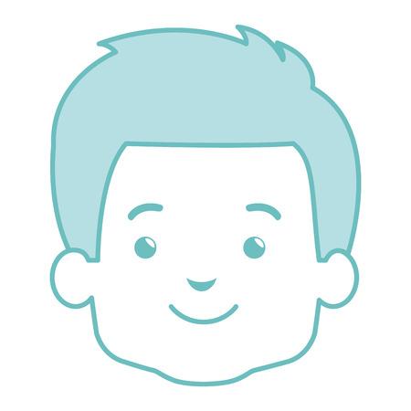 Cute little boy head  illustration design