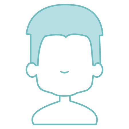 Cute boy shirtless and faceless illustration design Illustration