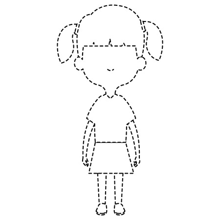 cute and little girl vector illustration design Ilustracja