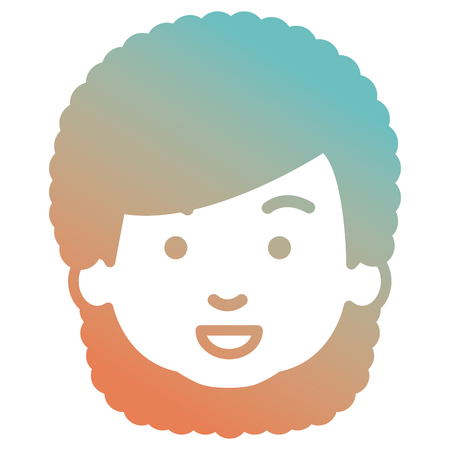 Cute and little girl head vector illustration design