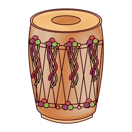 A musical instrument indian traditional vector illustration drawing design
