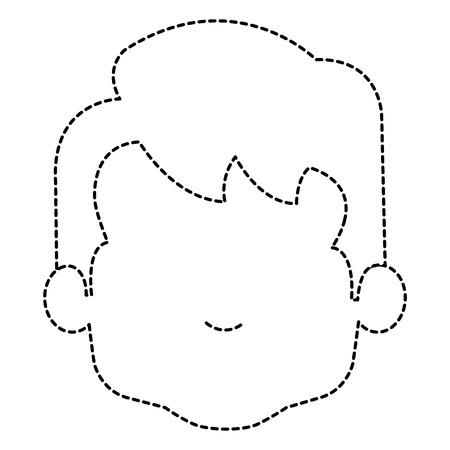 귀 엽 고 작은 소년 머리 벡터 일러스트 레이 션 디자인 일러스트