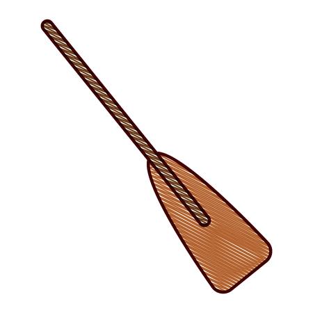 木製ボートオールスポーツオブジェクト要素ベクトルイラスト描画デザイン