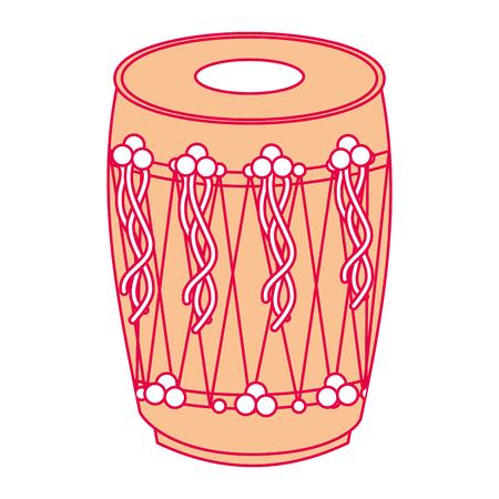 楽器パンジャブドラムドールインドの伝統的なベクトルイラスト