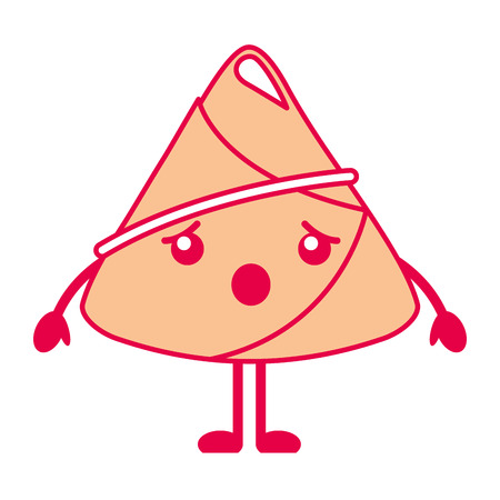 rice dumpling surprised cartoon vector illustration
