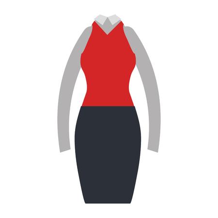 elegant femenine costume icon vector illustration design Иллюстрация
