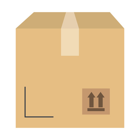 delivery carton box icon vector illustration design Ilustração