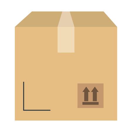 delivery carton box icon vector illustration design Ilustracja