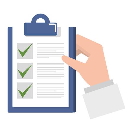 checklist document geïsoleerd pictogram vector illustratie ontwerp Stock Illustratie