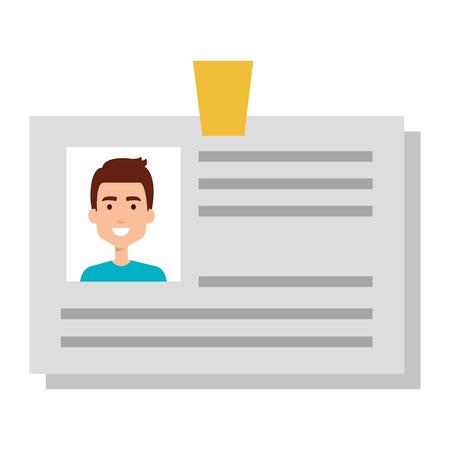 id document card icon vector illustration design Stock Illustratie