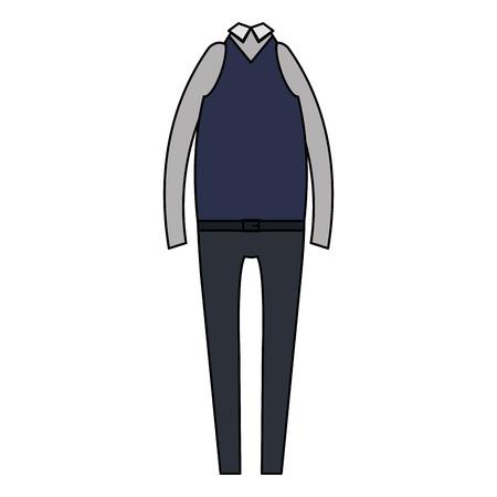 elegant masculine costume icon vector illustration design Stock Vector - 94696376