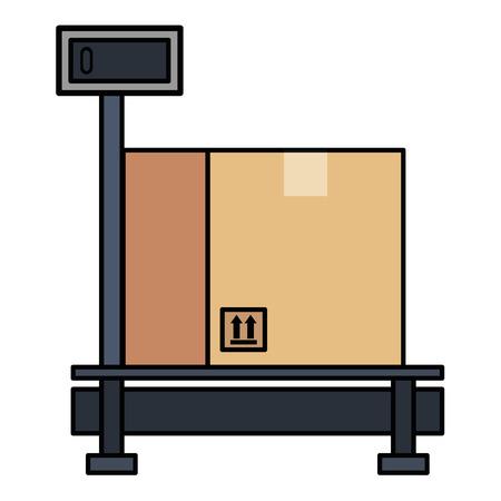 bezorgservice schaal met vak vector illustratie ontwerp
