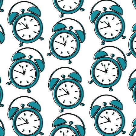 Alarm clock pattern image vector illustration design Stock Vector - 94836402