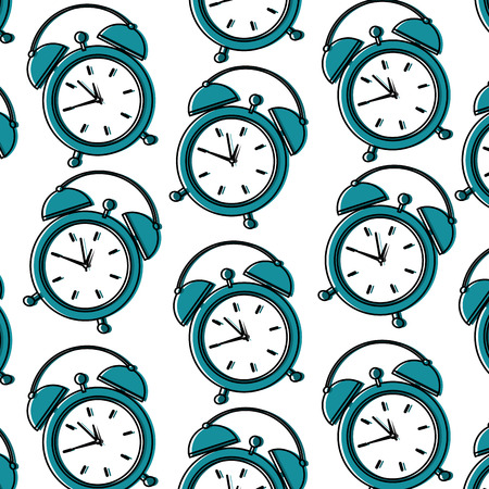 Alarm clock pattern image vector illustration design Illustration