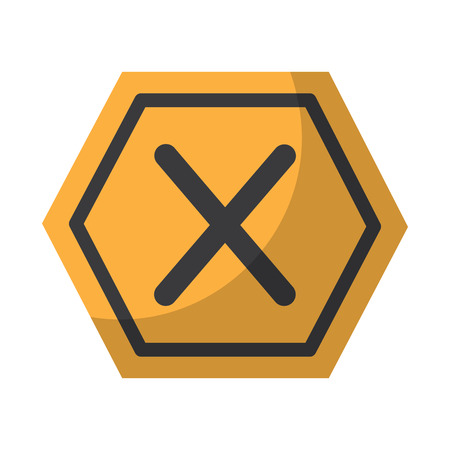 x forbidden no access danger icon image vector illustration design