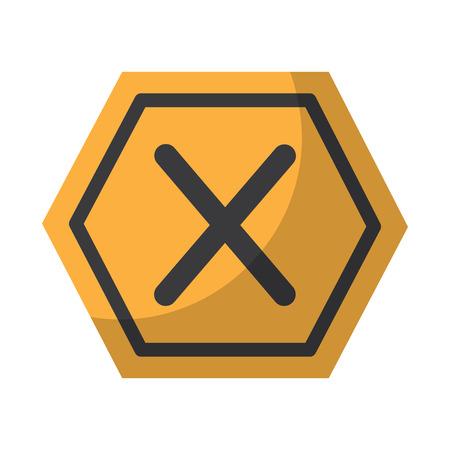 x 禁止なし アクセス禁止危険アイコン 画像ベクトル イラストデザイン
