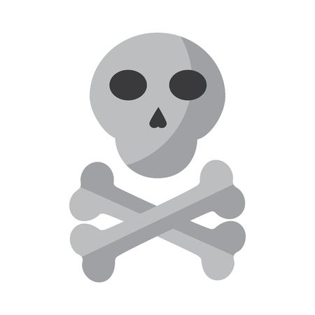 skull with bones icon image vector illustration design
