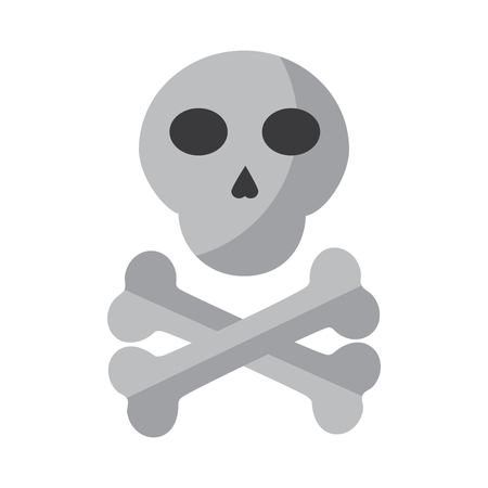 skull with bones icon image vector illustration design