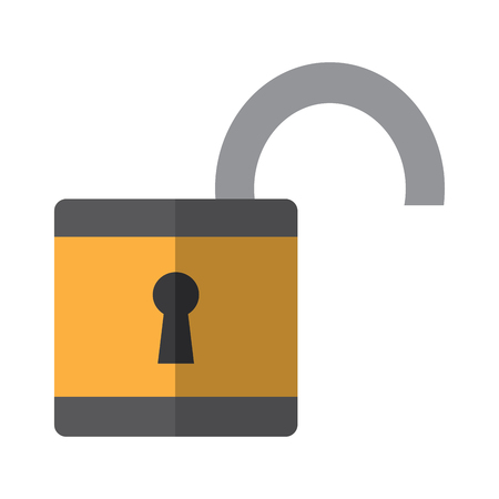 open safety lock icon image vector illustration design