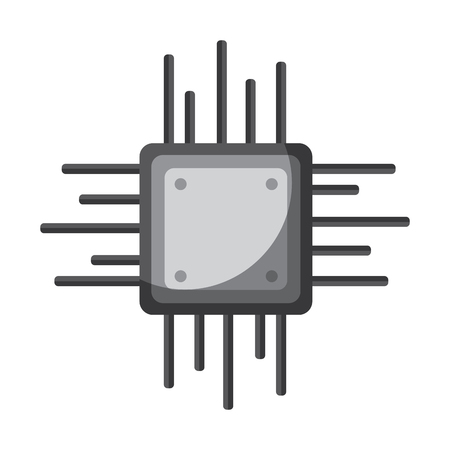 cpu chip icon image vector illustration design  Ilustrace