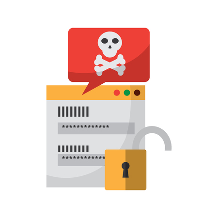 website or webpage with virus icon image vector illustration design  向量圖像