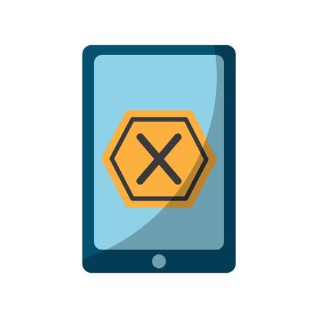 Smartphone com design de ilustração de vector de ícone de sinal proibido Foto de archivo - 94886038