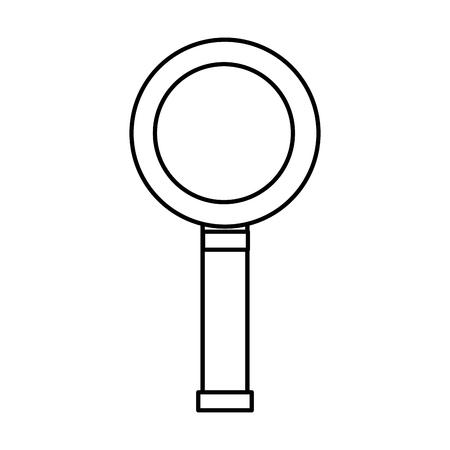 magnifying glass icon image vector illustration design black line Çizim