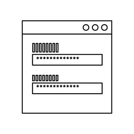 webpage or website icon image vector illustration design  black line Illustration