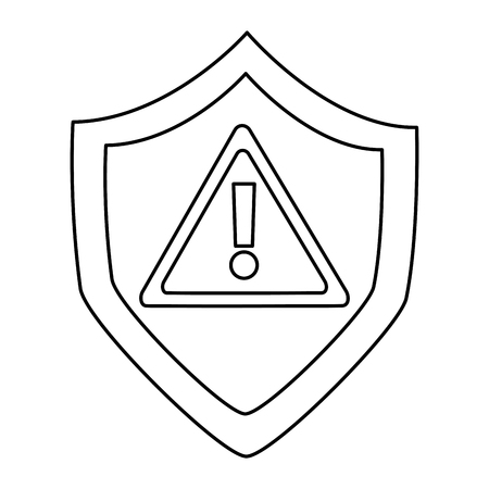 antivirus shield icon image vector illustration design  black line Illustration