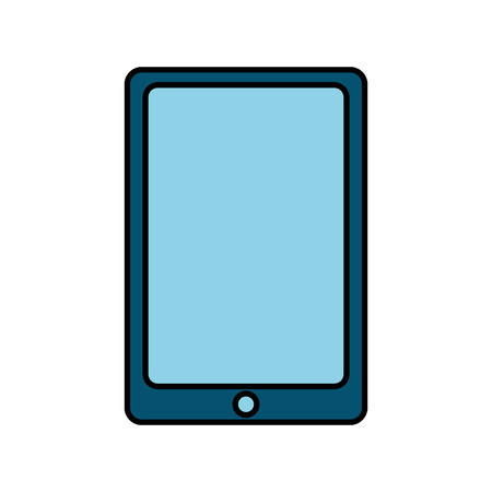 Mobile phone smart technology device icon vector illustration