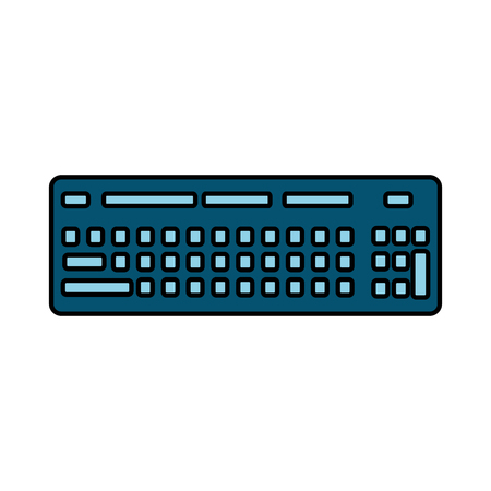 computer keyboard device equipment icon vector illustration Illustration