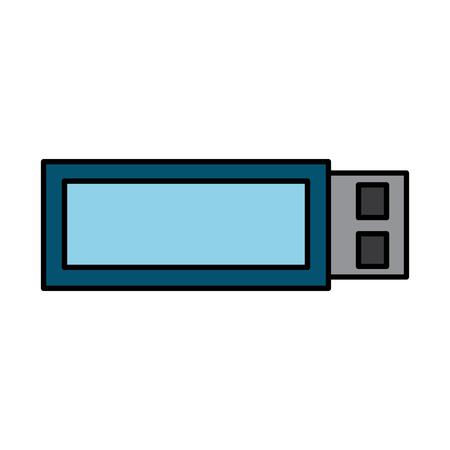 usb device wireless backup technology vector illustration Illustration