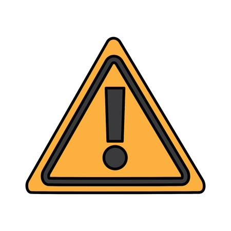 Warning sign alert system technology symbol vector illustration.
