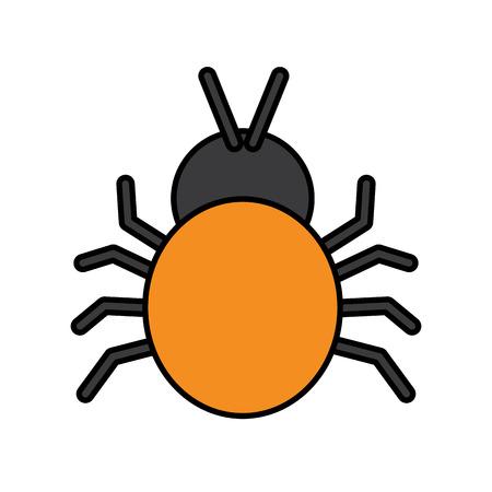 aanval door een bugvirus dat de systeem vectorillustratie binnenkomt