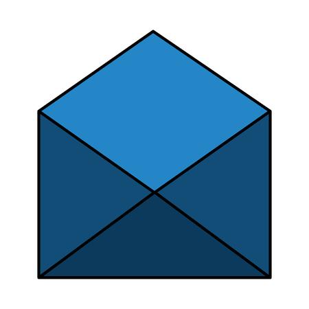 Open envelope message letter communication vector illustration