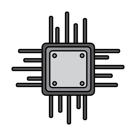 Motherboard circuit data processor technology connection vector illustration