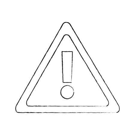 warning sign alert system technology symbol vector illustration sketch design