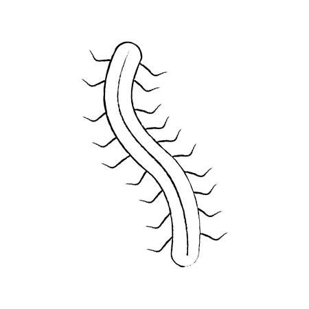 hacker virus worm digital information vector illustration sketch design