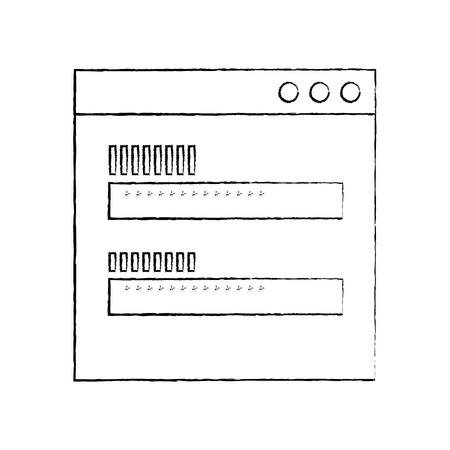 password access security icon protection of user data vector illustration sketch design