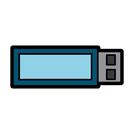 usb device wireless backup technology vector illustration Illustration