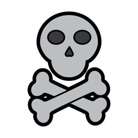 skull and crossed bones danger image vector illustration