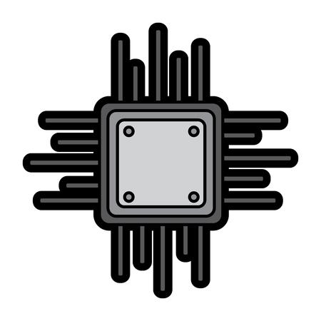 マザーボード回路データプロセッサ技術接続ベクトル図