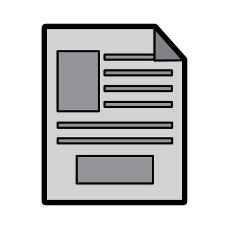 document digital office data image vector illustration