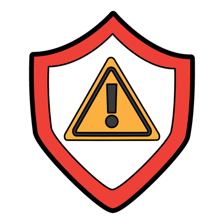 shield protection safety warning cyber concept vector illustration 向量圖像