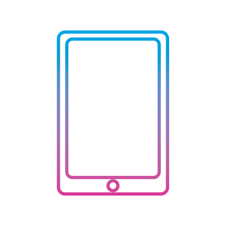 mobile phone smart technology device icon vector illustration degraded line color image Фото со стока - 94843480