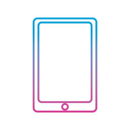 mobile phone smart technology device icon vector illustration degraded line color image Иллюстрация