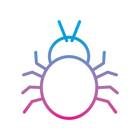 システムベクトルイラスト劣化線色画像に入るバグウイルスによる攻撃