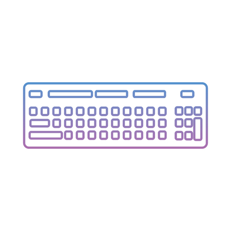 computer keyboard device equipment icon vector illustration degraded line color image