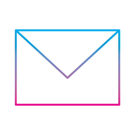 email envelope message post communication icon vector illustration degraded line color image